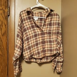 ae cropped flannel